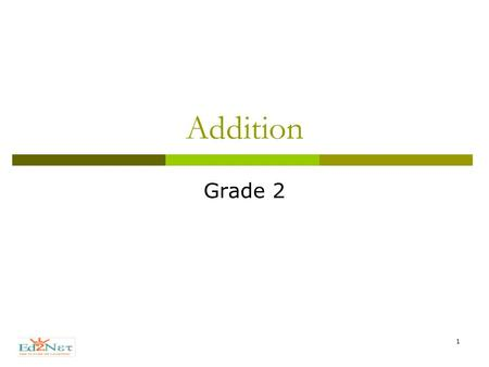 1 Addition Grade 2. 2 Welcome  Hello!  How are you today.  Lets start a new Lesson !