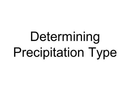 Determining Precipitation Type. Rain (R, RA)- Rain is liquid precipitation that reaches the surface in the form of drops that are greater than 0.5 millimeters.
