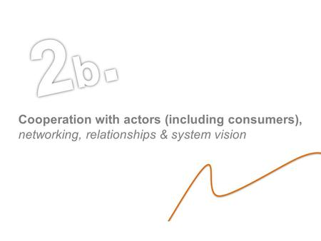 Luca Carrubbo – Brno 2013 Cooperation with actors (including consumers), networking, relationships & system vision.