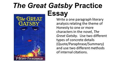 The Great Gatsby Essays and Criticism
