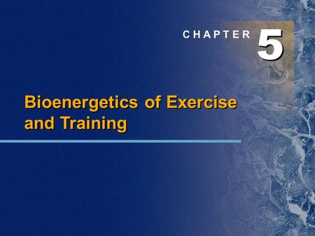 5 5 C H A P T E R Bioenergetics of Exercise and Training.
