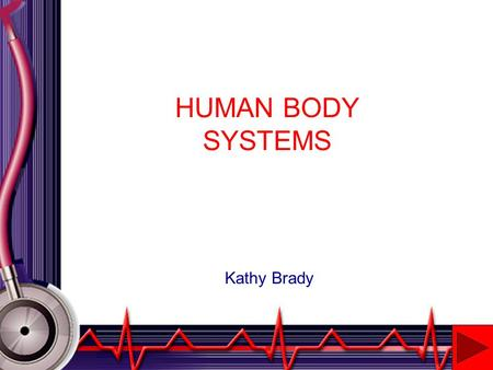 HUMAN BODY SYSTEMS Kathy Brady INTRODUCTION This project will introduce the student to various body systems covered in Biology. The following systems.