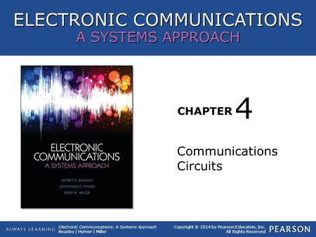 ELECTRONIC COMMUNICATIONS A SYSTEMS APPROACH CHAPTER Copyright © 2014 by Pearson Education, Inc. All Rights Reserved Electronic Communications: A Systems.