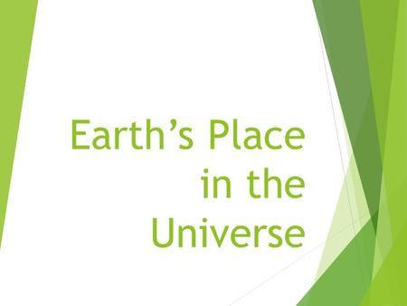 Earth's Place in the Universe. Starter- Do on page 181 in the starter section of your notebook.  Our new unit is Earth's Role in Space, where do you.