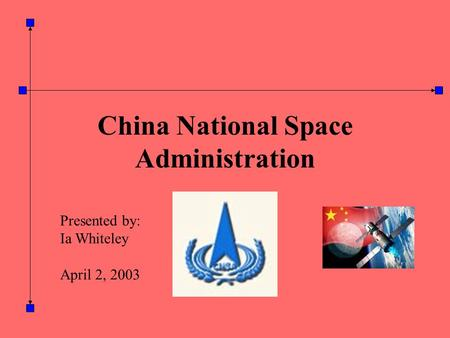 China National Space Administration Presented by: Ia Whiteley April 2, 2003.
