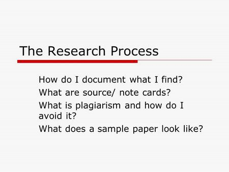 Organizing Your Social Sciences Research Paper: Writing a Field Report