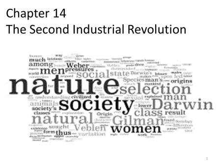Chapter 14 The Second Industrial Revolution 1. Industry & Railroads (14.1) 2 The Main Idea During the late 1800s, new technology led to rapid industrial.
