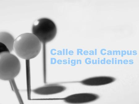 Calle Real Campus Design Guidelines. Five-Step Process 1999 Board Direction, create a five phase process--- –Phase 1: Determine Space Needs –Phase 2: