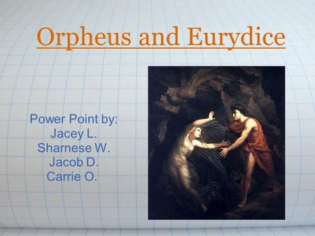 orpheus and eurydice summary 1 eurydice without orpheus senior project submitted to the division of languages and literature of bard college by nora offen annandale-on-hudson, ny.