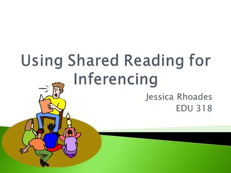 Jessica Rhoades EDU 318.  Encourage the use of shared reading and think aloud strategies to encourage inferencing in emergent through proficient readers.