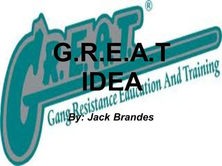 G.R.E.A.T IDEA By: Jack Brandes. The Problem For kids at Meigs, the car line can be a tough place. It is always so noisy with after-school chatter. It.