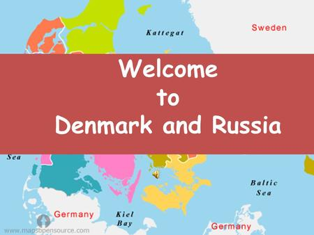 Welcome to Denmark and Russia. Present Ms.Thanaporn Pattanatornchai.