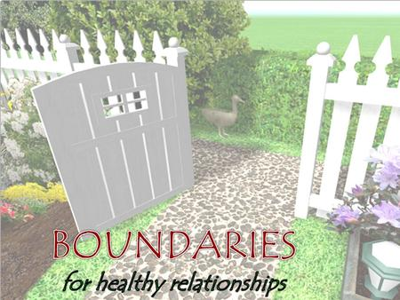 Week 1: Emotional boundaries Week 2: Financial boundaries Week 3: Physical boundaries Week 4: Time and energy boundaries.