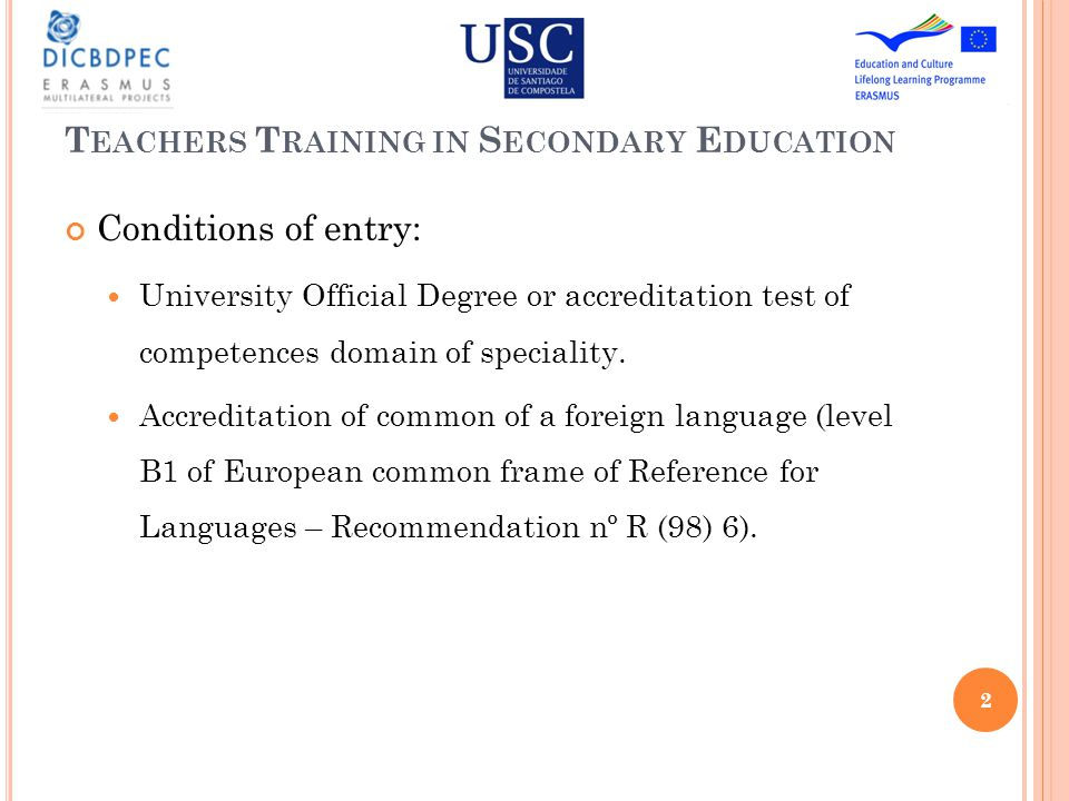 T EACHING P LANNING Duration : 1 Academic Course Nº ECTS : 60 Character : Face to face (minimum 80 %) 3