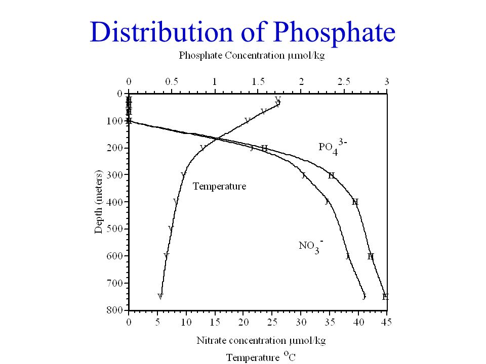 What is the cause of the phosphate distribution.