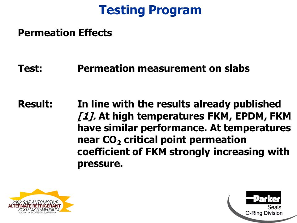 Permeation Effects Testing Program