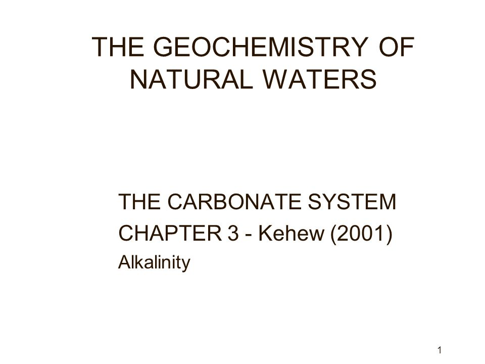 2 LEARNING OBJECTIVES zUnderstand sources of CO 2 in natural waters.