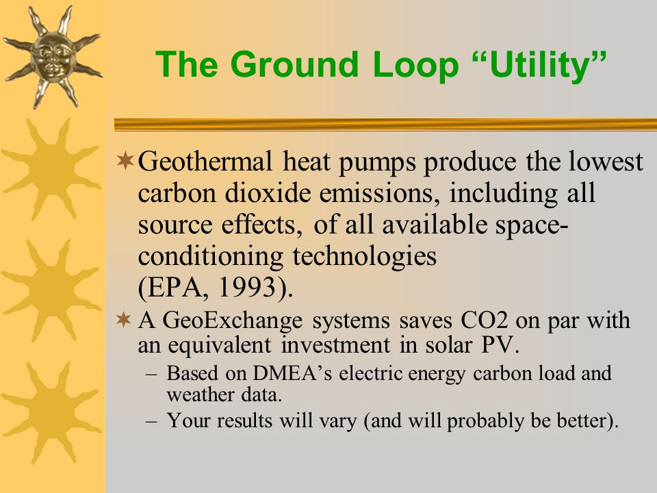 The Ground Loop Utility Geothermal Heat Pumps are the Most Efficient way to use Green Electricity for Heating, Cooling & Water Heating