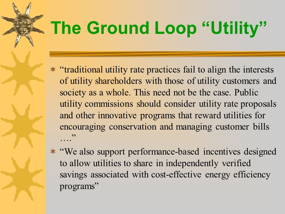 The Ground Loop Utility  Business Offering: REnU Bringing Solar to Your Home.