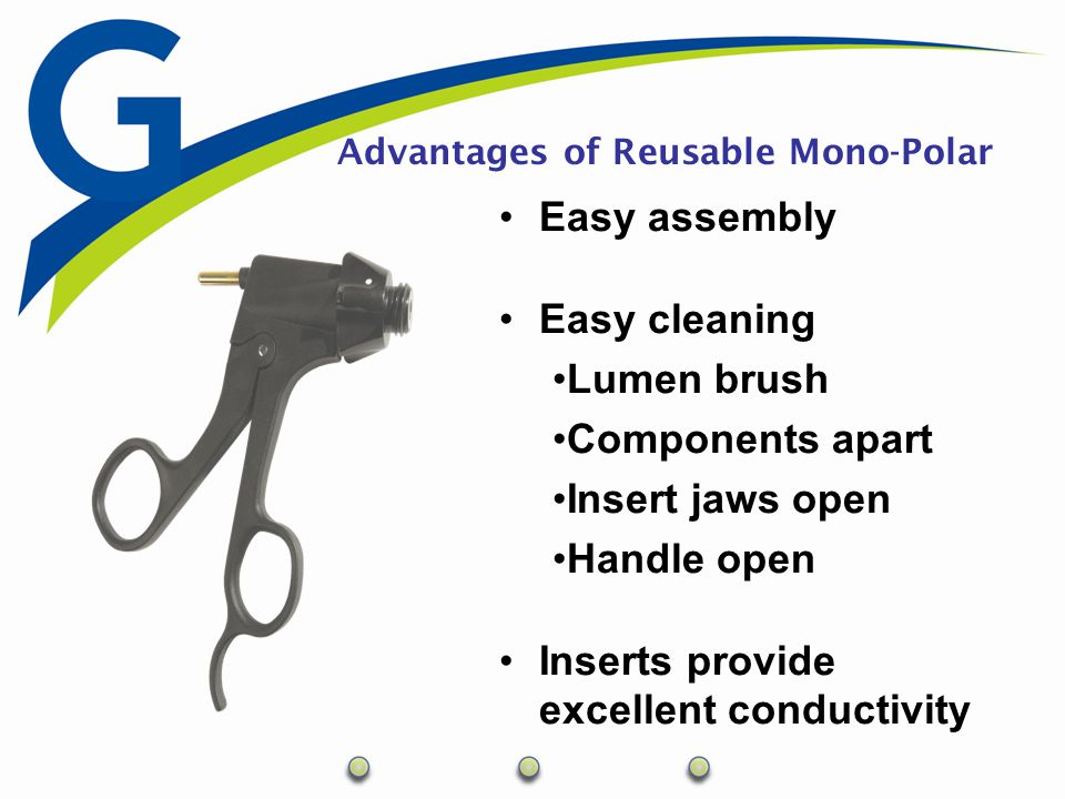 Advantages of the GENICON Mono-Polar Variety of handles Rotates 360 degrees Comfortable and Light-weight One-Piece vs.
