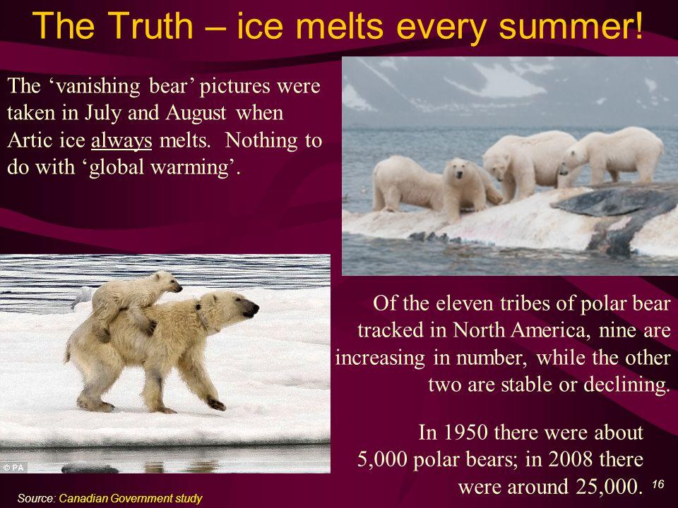 17 The Lie – Kilimanjaro ice melting Al Gore claimed that the melting of ice on Kilimanjaro ice proved global warming.