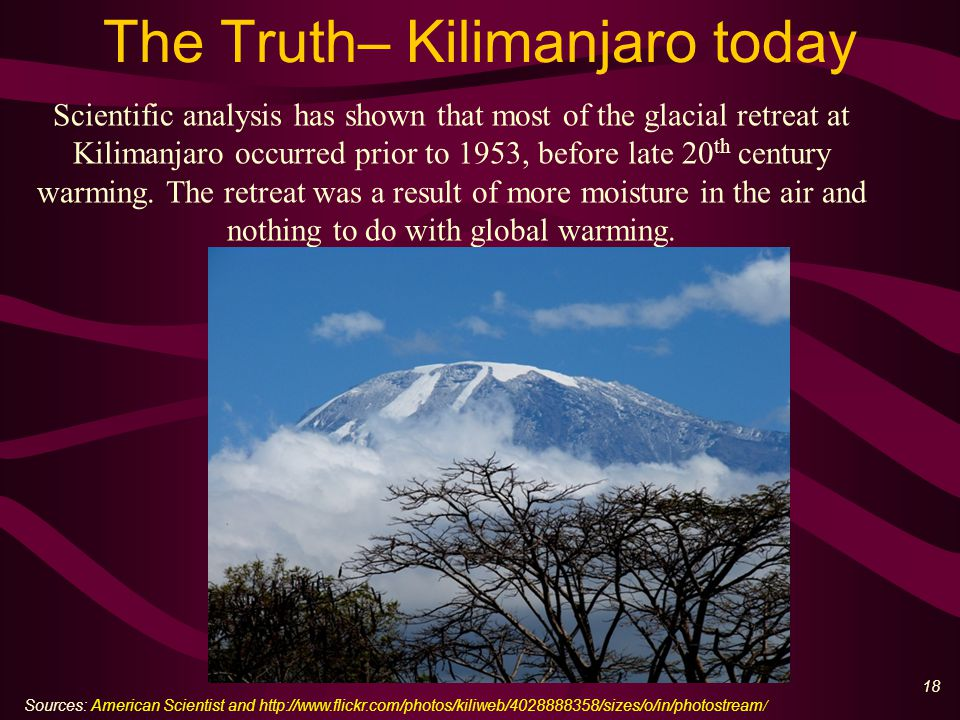 19 The Lie – more CO 2 than ever How to lie – choose short timeframes to 'prove' your case Source: Wikipedia