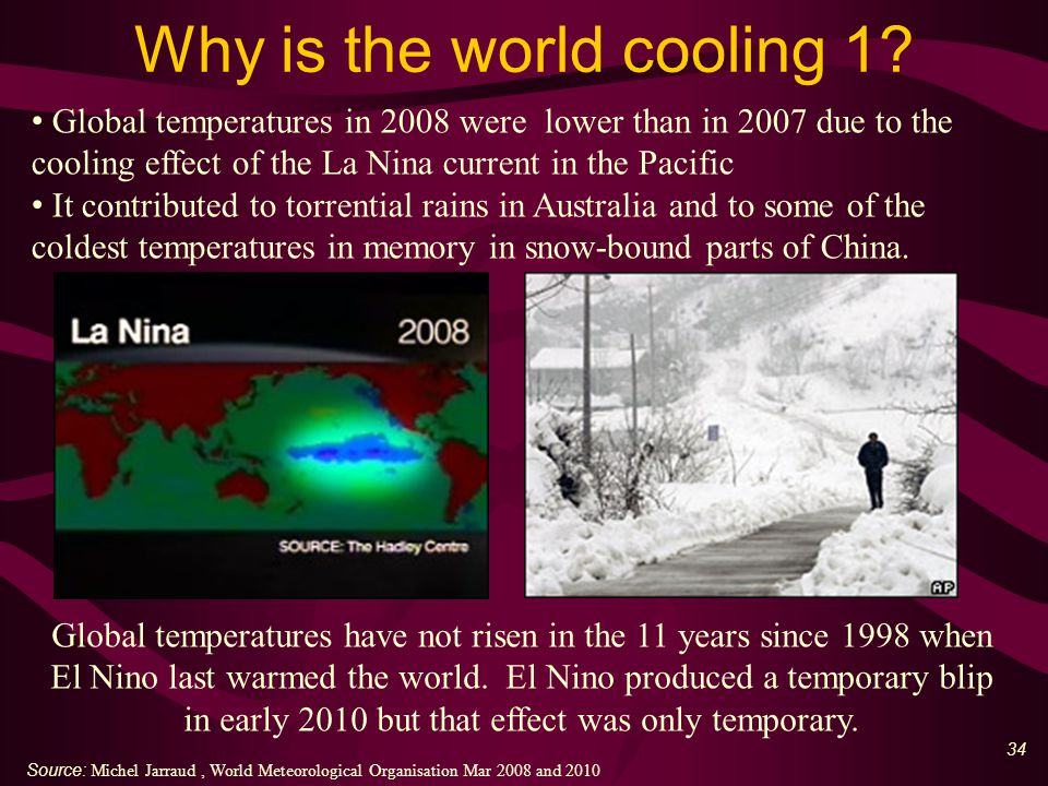35 Why is the world cooling 2.Scientists now predicting a Little Ice Age' ( June 2011 ).