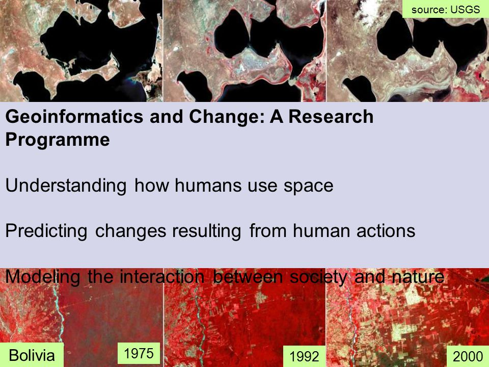 Spatial segregation indexesRemote sensing image mining GI software: SPRING and TerraView Land change modelling INPE´s strong point: a combination of problem-driven GI research and engineering
