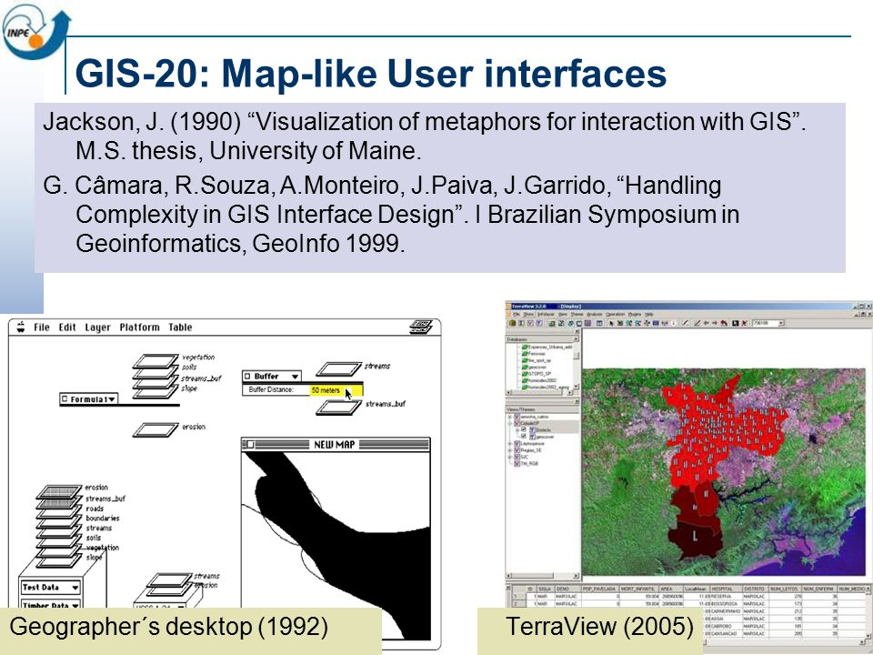 GIS -20: Region-based spatial analysis MF Goodchild, A spatial analytical perspective on GIS .