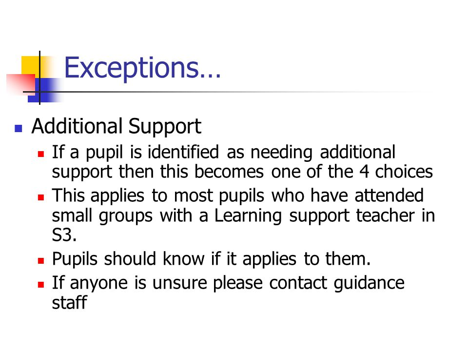Please Note It is hoped that we will be able to provide most if not all pupils with their first four choices.
