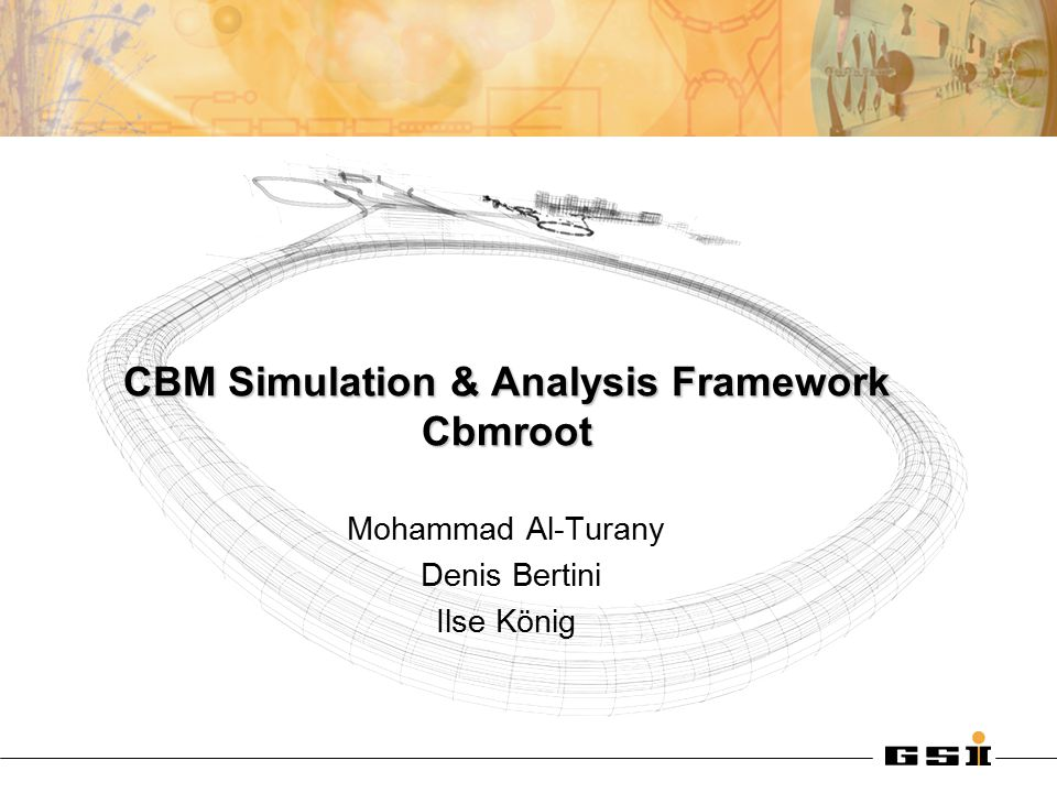 10.03.2005CBM Collaboration Meeting 2 CBM Framework: Features The same framework can be used for Simulation and Analysis Fully ROOT based: –VMC for simulation –Geometry Modeller (TGeoManager) : Overlaps checking, visualization and/or navigation system of G3 –IO scheme (TChain, friend TTrees, TFolders ) for persistency –TTask to organize analysis data flow Completely configurable via ROOT macros Easy to maintain (only ROOT standard services are used) Reuse of HADES Geometry Interface.