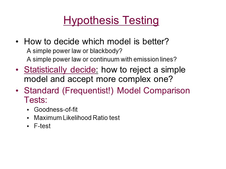 Steps in Hypothesis Testing - I
