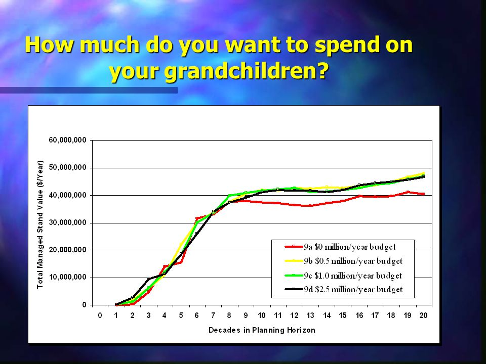 How much do you want to spend on your grandchildren?