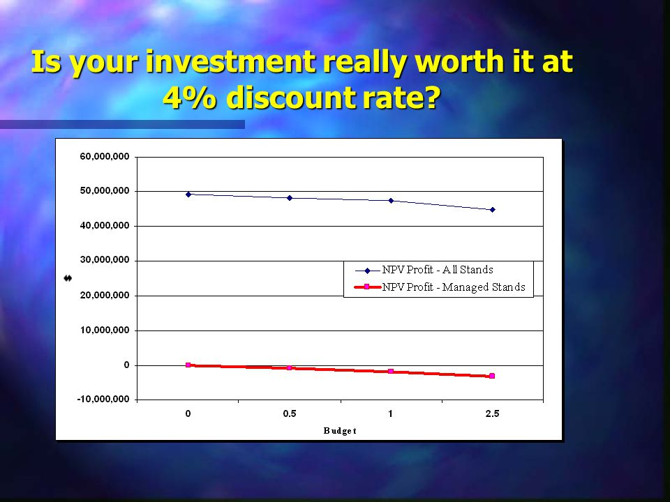 Is your investment really worth it at 4% discount rate?