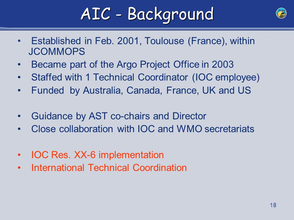 19 TC Activities E.Charpentier moved to WMO in Feb.