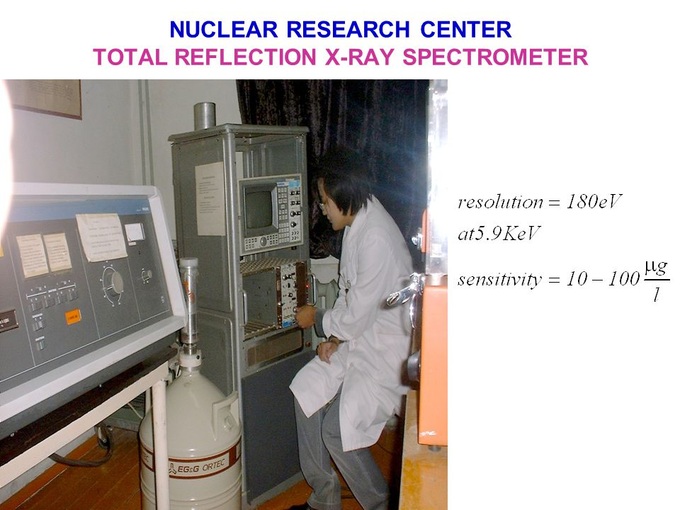 NUCLEAR RESEARCH CENTER X-RAY SPECTROMETER