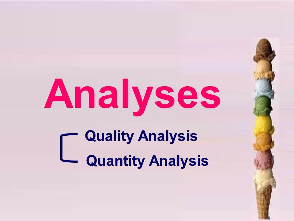 Quality Analysis