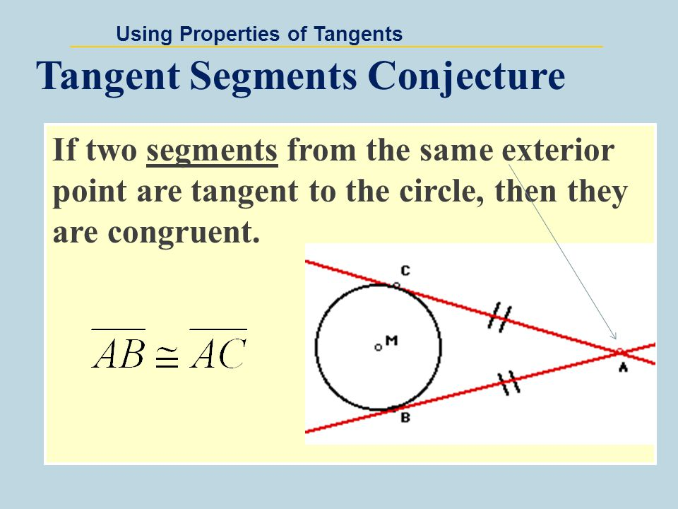 Using Properties of Tangents x 2 - 4 is tangent to R at S.