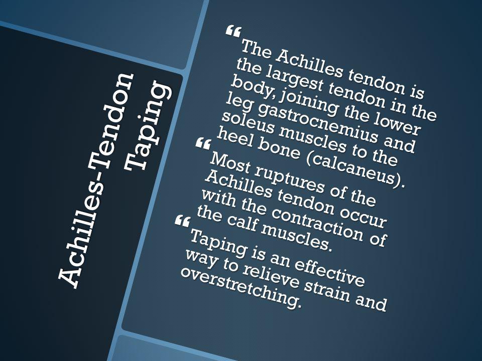 Achilles-Tendon Taping