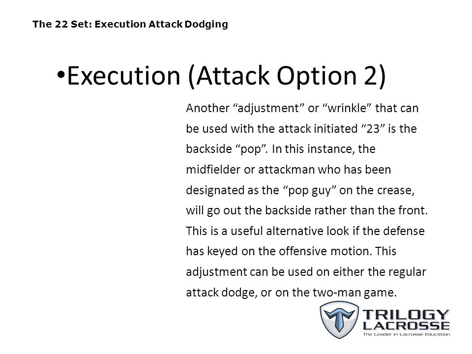 The 23 Set (A1 Dodging With Backside Pop) A1 A2 M3 A3 M2 M1