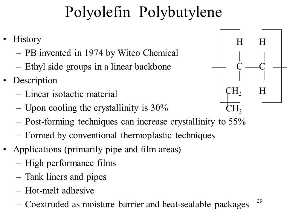 30 Properties of Polybutylene