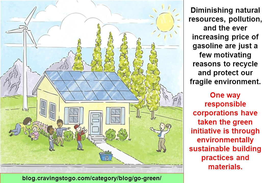 The practice of green building can lead to benefits including : 1.reduced operating costs by increasing productivity and using less energy and water, 2.improved public and occupant health due to improved indoor air quality, and 3.reduced environment impacts by, lessening storm water runoff and the heat island effect.