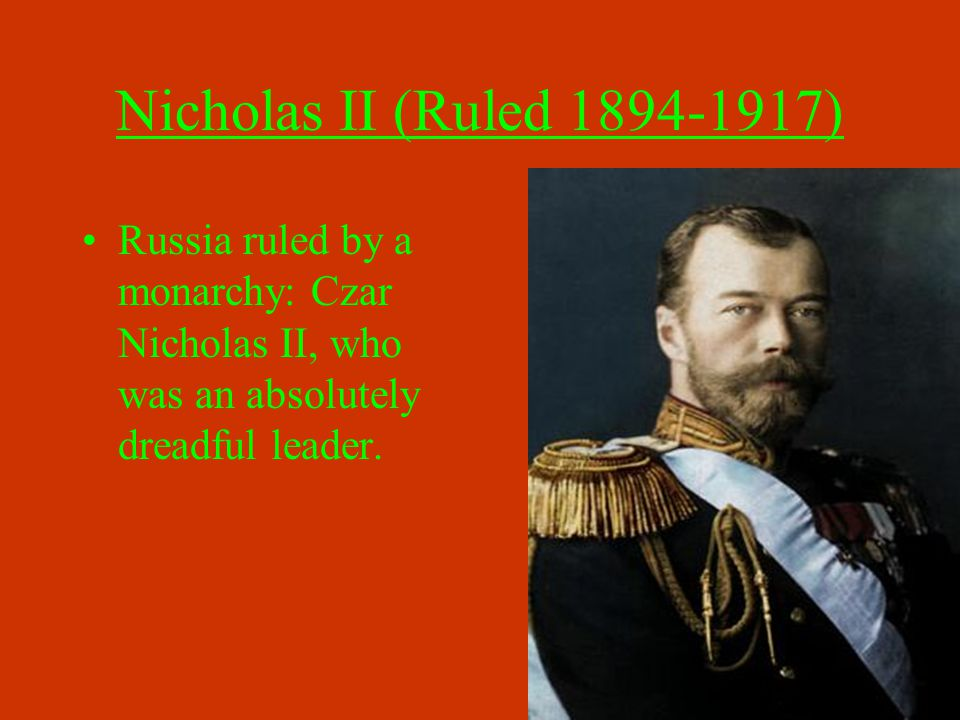 The Reign of Nicholas II Food shortages in the cities were commonplace due in part to a poorly organized transportation system.