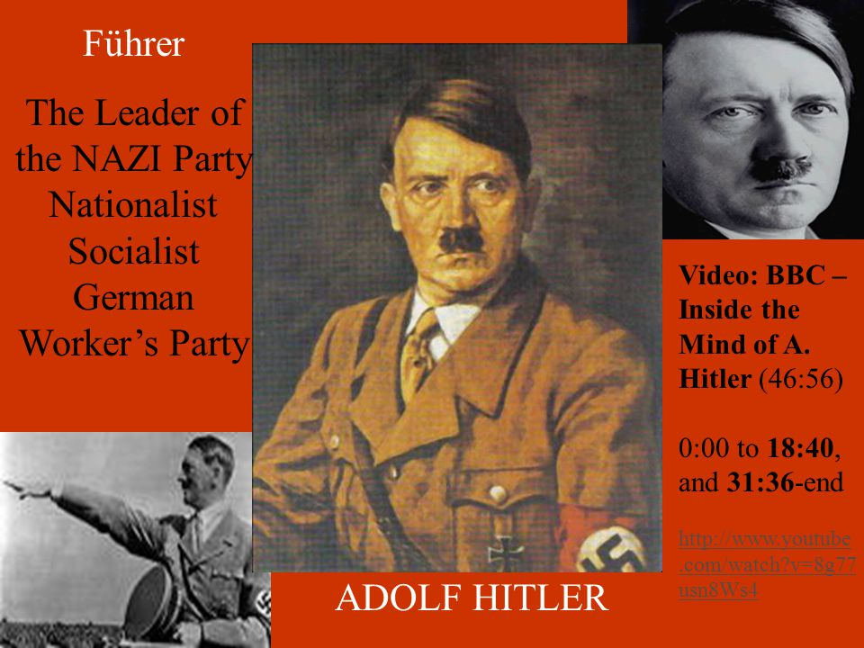 Nazi Propaganda One sided information designed to persuade an audience.