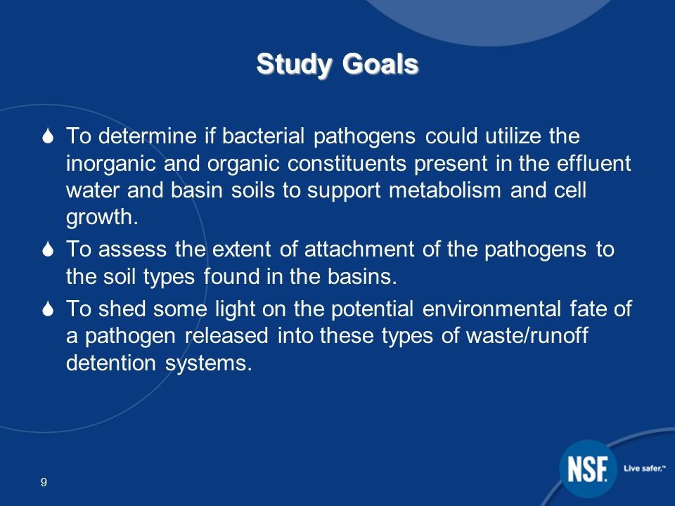 10 Study 1- Effluent Regrowth The purpose of this study was to evaluate the potential for regrowth in sewage treatment plant effluent of Escherichia coli (E.