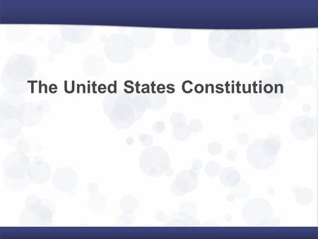 The United States Constitution. Strengths of Articles Allowed states to remain separate to make their own laws Allowed for creation of an Army under one.