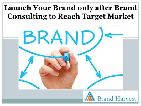 Launch Your Brand only after Brand Consulting to Reach Target Market.