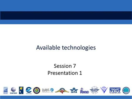 Available technologies Session 7 Presentation 1. ICAO Regional Runway Safety Seminar Runway Incursions, Confusion and Excursions are a leading cause of.