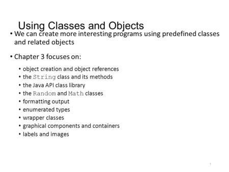 Abstract Methods and Classes