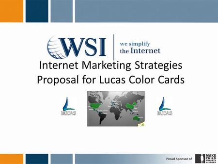 Internet Marketing Strategies Proposal for Lucas Color Cards.